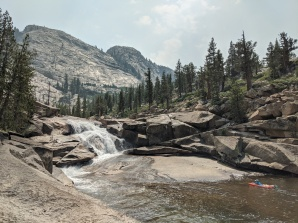 After setting up camp we cooled off in a large swimming hole at the base of California Falls